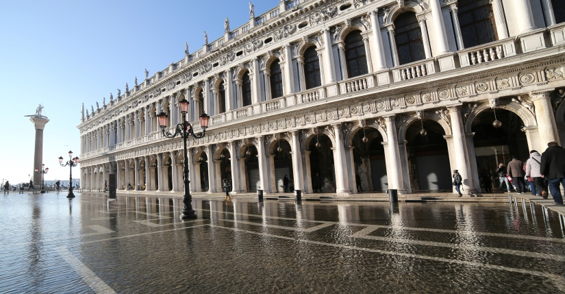 Palace of  National Library called Biblioteca Marciana with high