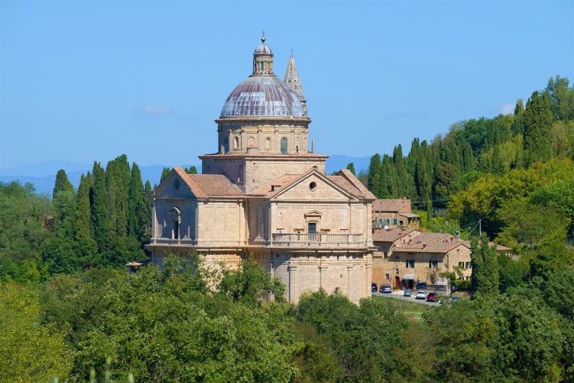 Church of the Madonna di San Biagio in the vicinity of Montepulciano. Italy