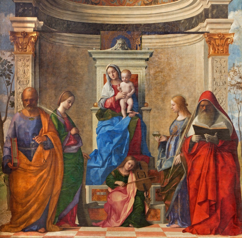Venice - Madonna by Giovanni Bellini in San Zaccaria church.